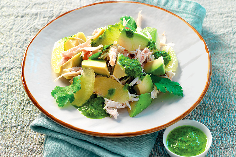 Our Recipes – Chicken & Avocado Salad With Ginger Sauce